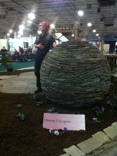 dry stone sphere in Oaks Pennsylvania