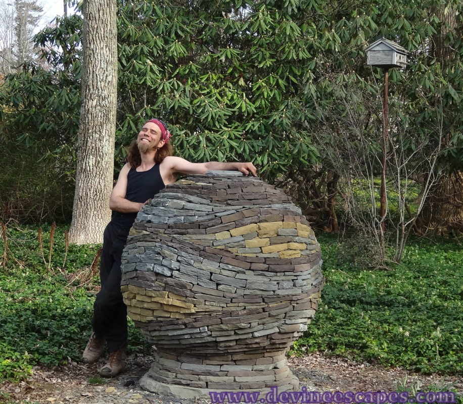 devin with dry stone sphere