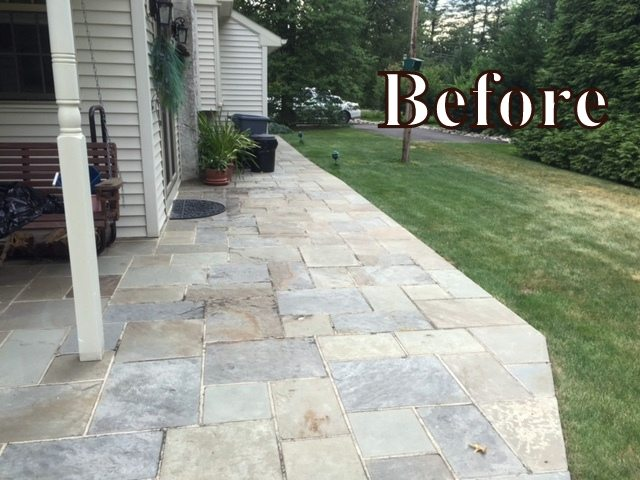 Charming Masonry Contractor. Flagstone Patio Set In Cement.