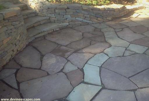 hardscape steps patio wall