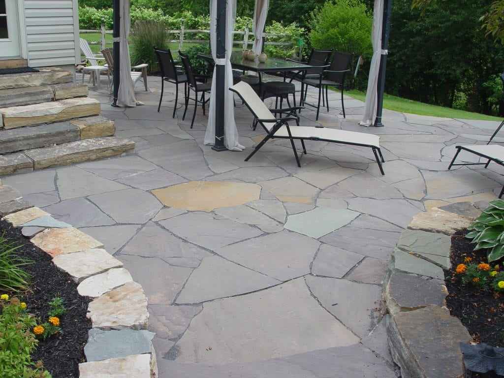 Flagstone patios traditional stone masonry natural for Pictures of stone patios