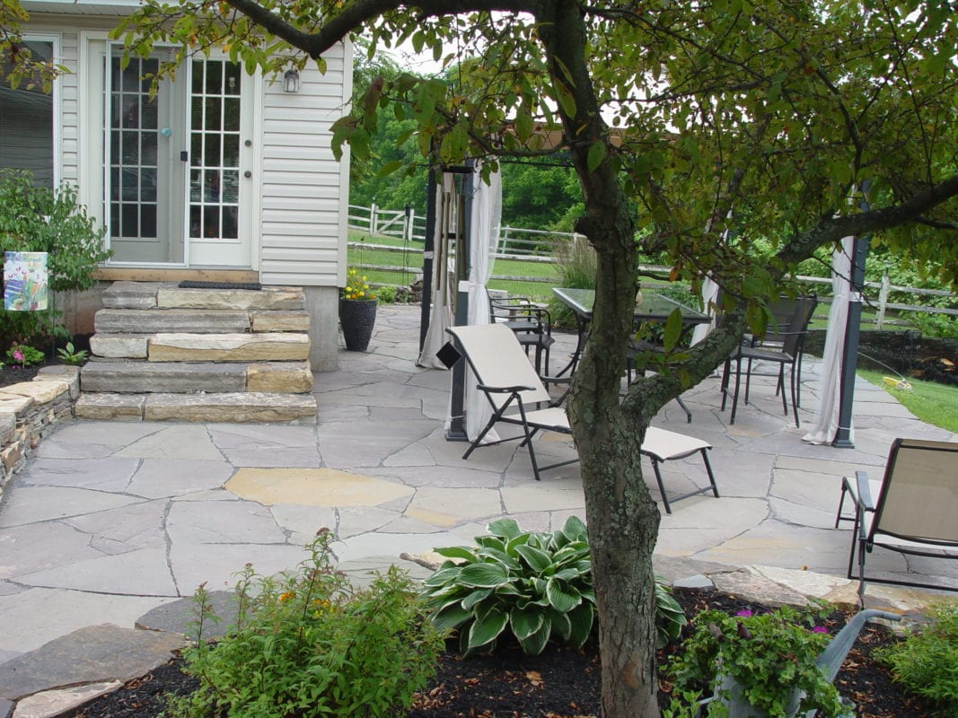Beautiful Hardscape Flagstone Patio Lansdale Pa