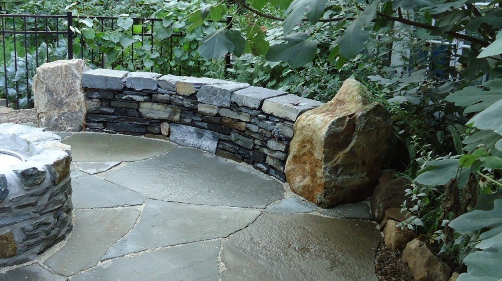Flagstone Patio With Fire Pit How To Build
