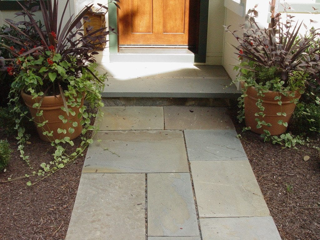 formal flagstone walkways