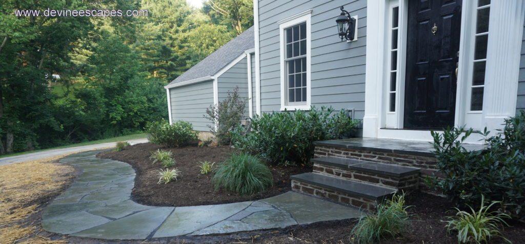 flagstone walkways and stone masnory