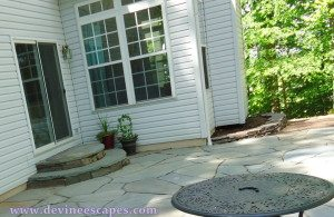 dry laid Fort Washington flagstone patios by Devine Escapes