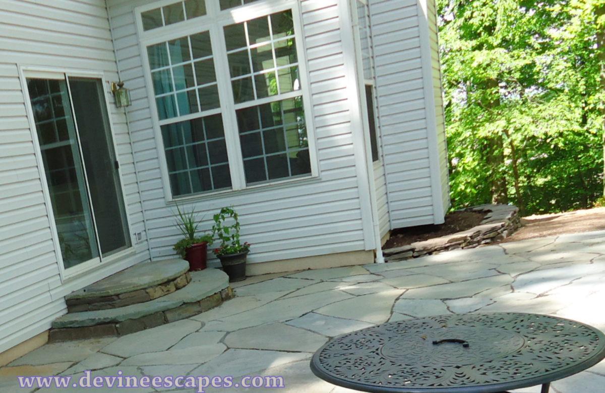 natural flagstone patios back yard