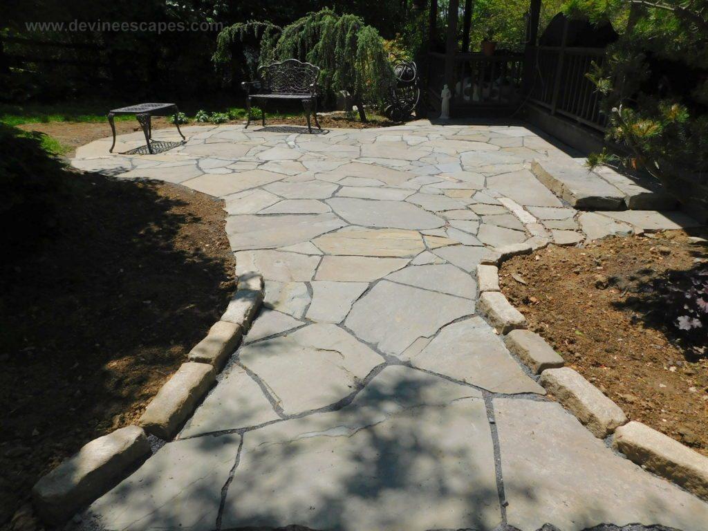 flagstone patios | traditional stone masonry | natural ... on Flagstone Backyard Patio id=50023