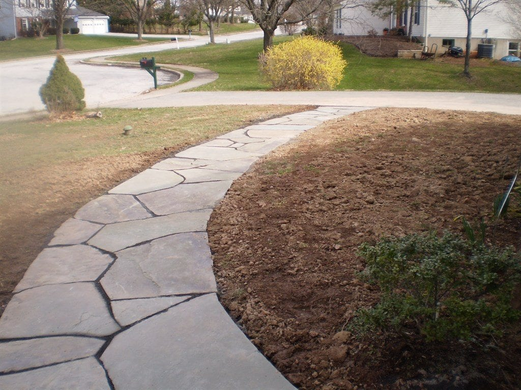 Flagstone walkways devine escapes Natural stone walkways