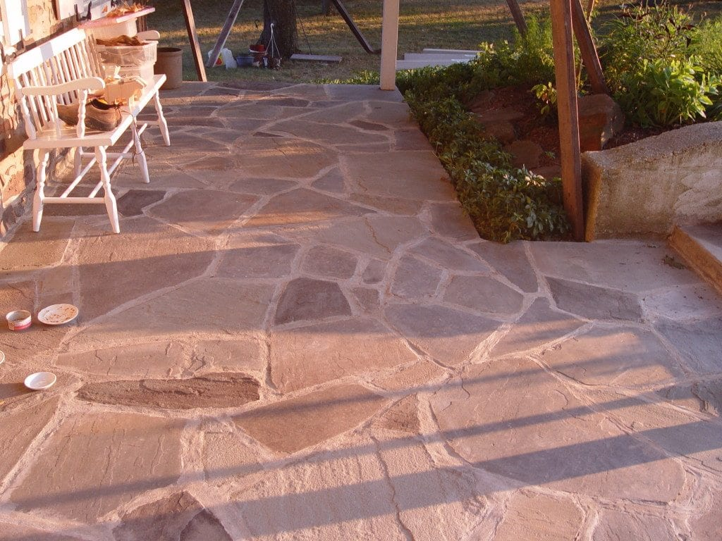 Cement Flagstone Patio Repair