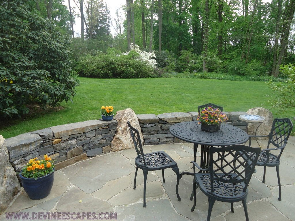 Flagstone Patios and Natural Stone Hardscaping in Devon PA ... on Flagstone Backyard Patio id=49843
