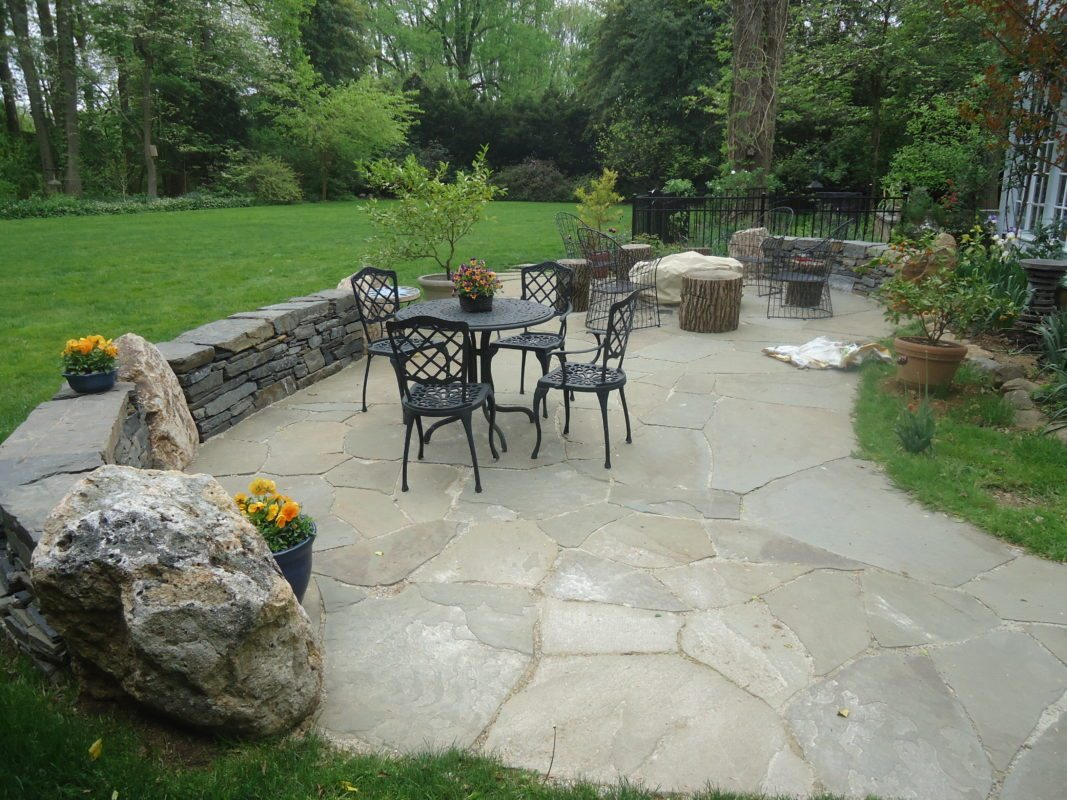 Flagstone Patios and Natural Stone Hardscaping in Devon PA ... on Flagstone Backyard Patio id=57022