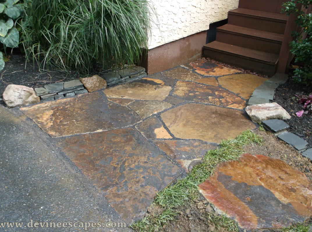 Flagstone walkway in palmerton pa devine escapes for Bluestone pricing