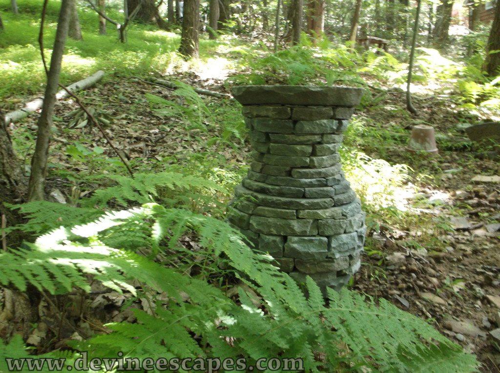 slate vase sculptures