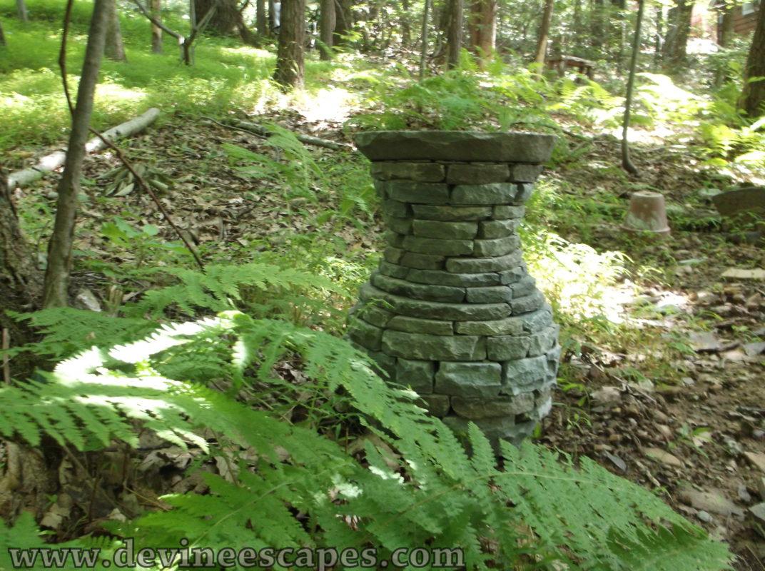 Dry Stone Garden Sculptures. Slate Vase Sculpture