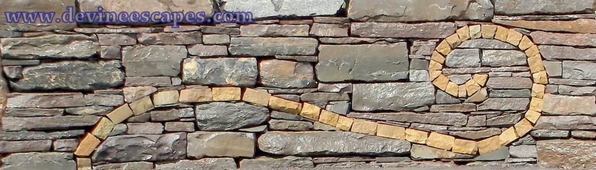 Stone Wall Art artistic dry laid stone walls - devine escapes