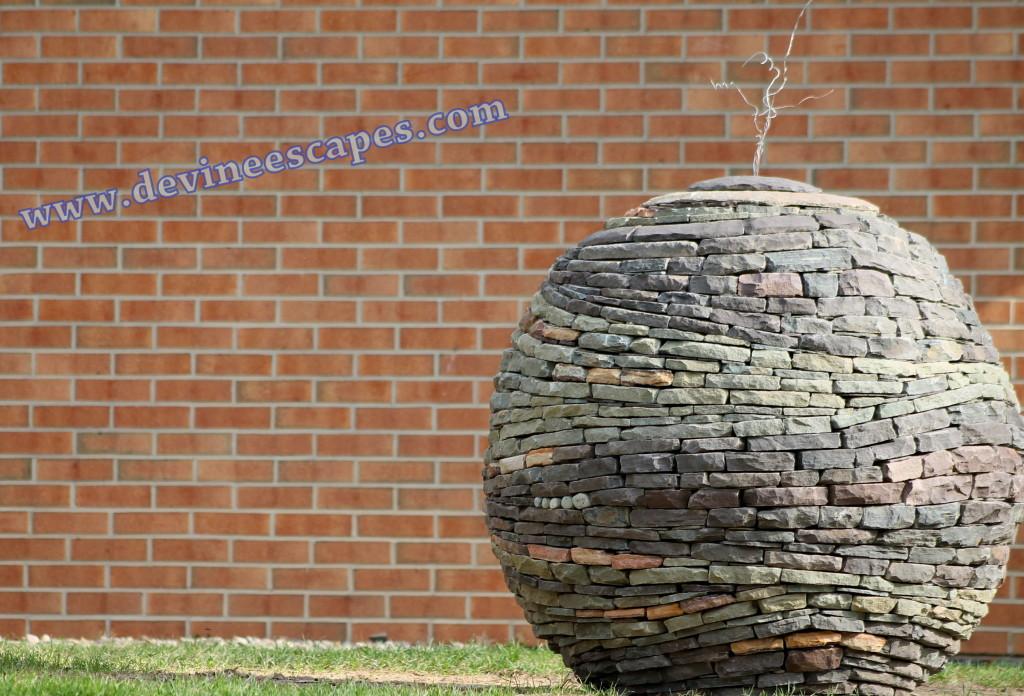 hyperspace sphere garden sculpture