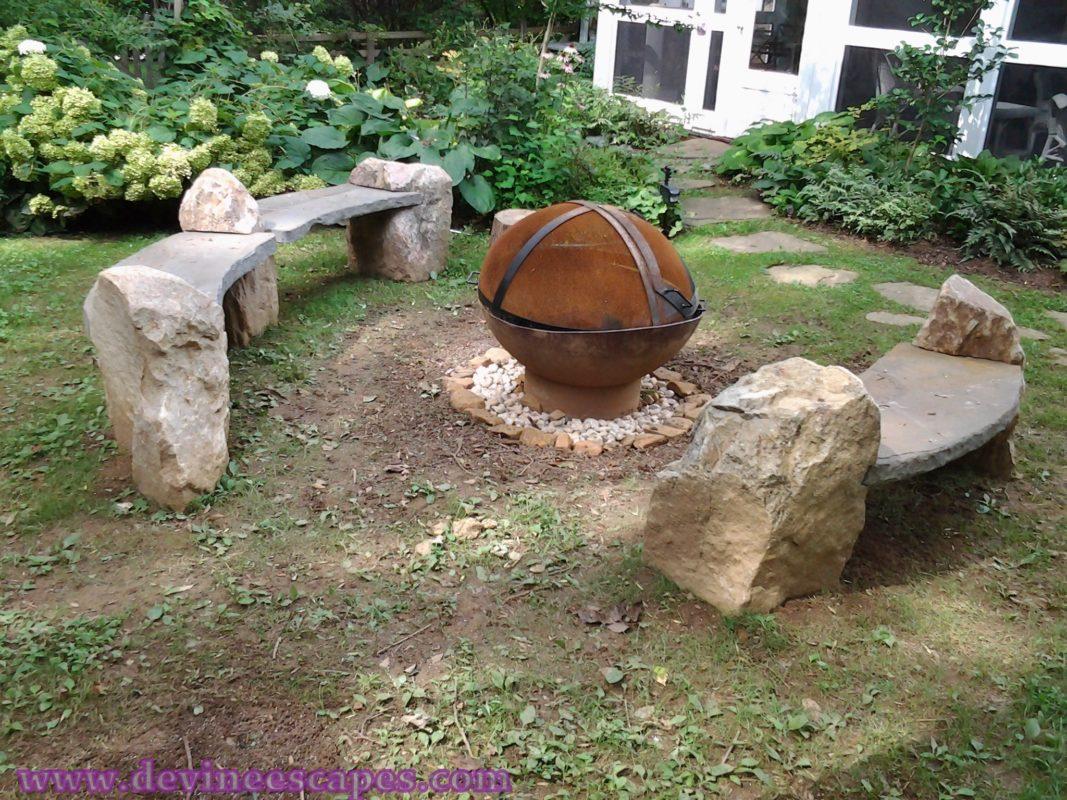 Natural Stone Benches Devine Escapes