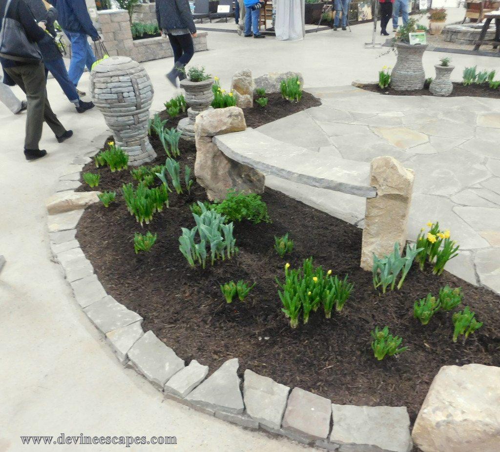 hand made stone bench