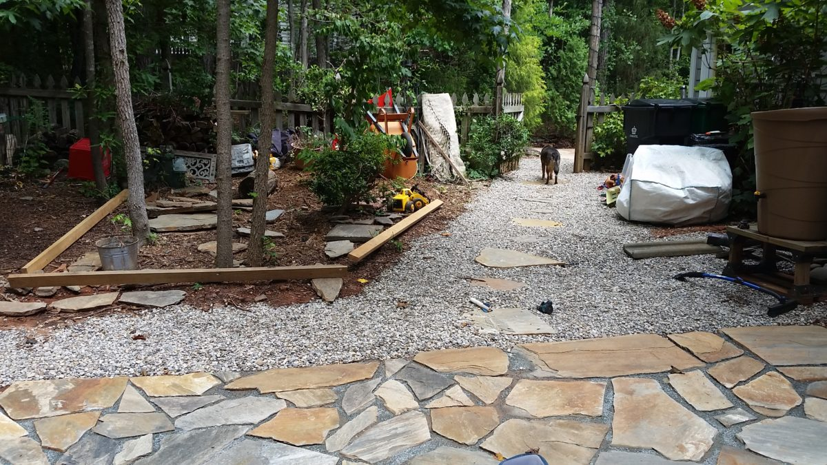 Building A Flagstone Patio : Diy flagstone help and phone consultations devine escapes
