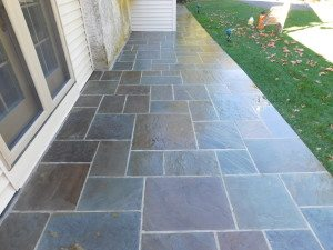 pattern cut flagstone