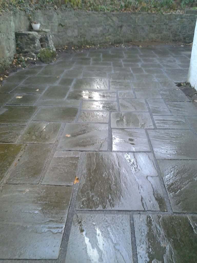 flagstone paio, repaired in Hartsdale New York