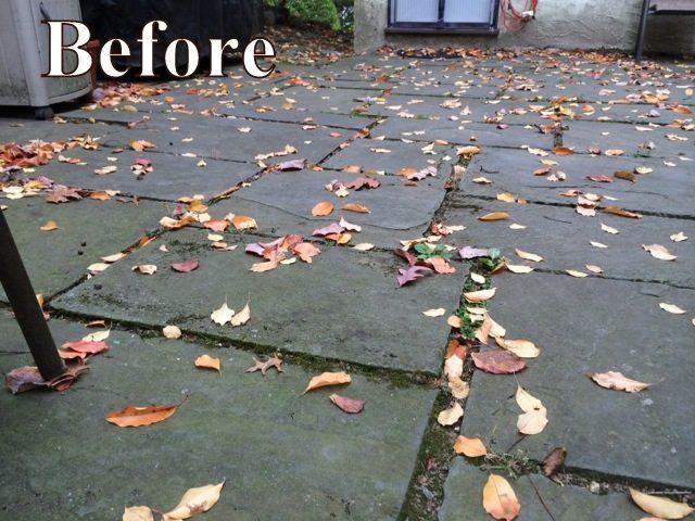 flagstone patio repair