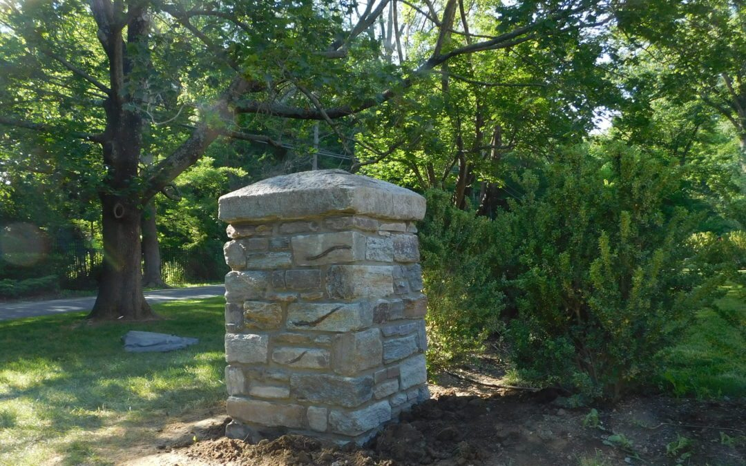 flagstone walkways and stone masonry in Bryn Mawr
