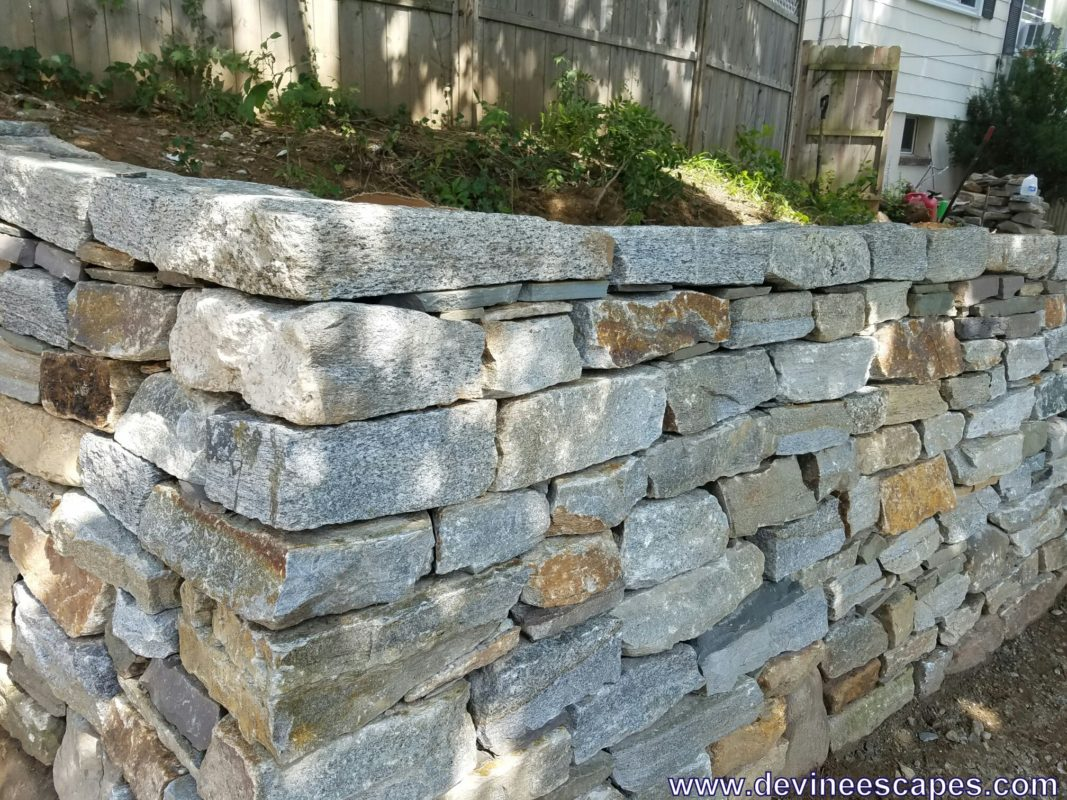 dry stone wall, corner