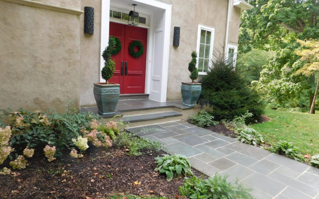 flagstone walkway re-pointing and repair in Paoli Pennsylvania